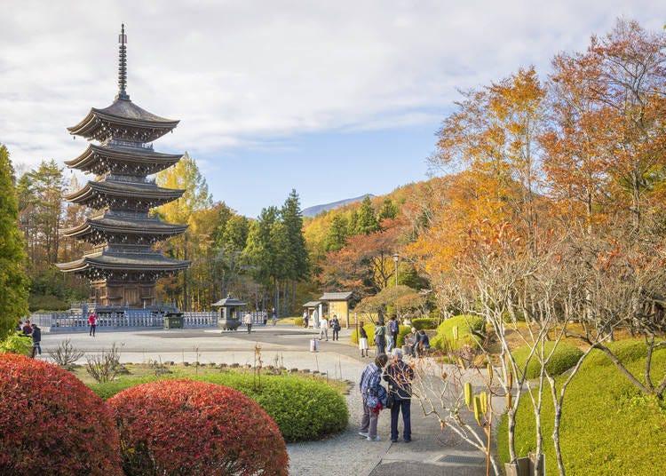 宮城賞楓景點⑧定義如來西方寺:和風的景觀優美又宏偉