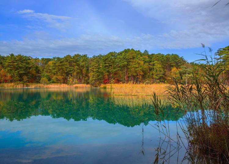 4. Goshikinuma Lakes: Feast on the mysterious energy and the beautiful autumn colors