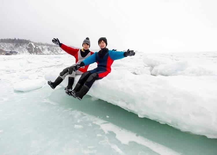 """2. Experience the thrill of a Shiretoko """"Ryuhyo(Ice) Walk""""!"""