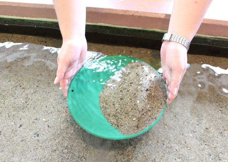 7:黄金の島の始まりの地で砂金取り体験!