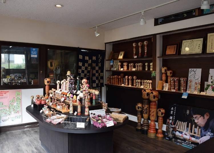 '히라가 코케시텐(목각인형 가게)'에서 사쿠나미 목각 기념품을 찾아보자