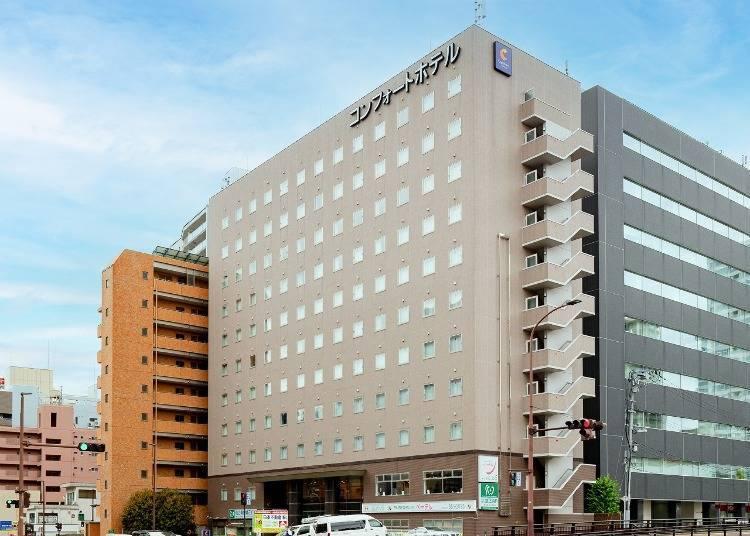 9. 컴포트 호텔 센다이 히가시구치(동쪽출구) : 먼 곳까지의 접근성이 발군