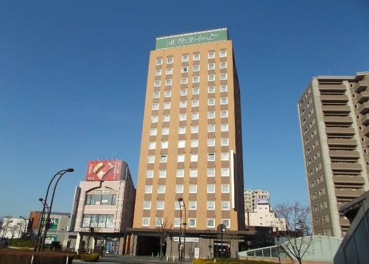 1.ホテルルートイン弘前駅前:最上階に大浴場を備える駅近ホテル