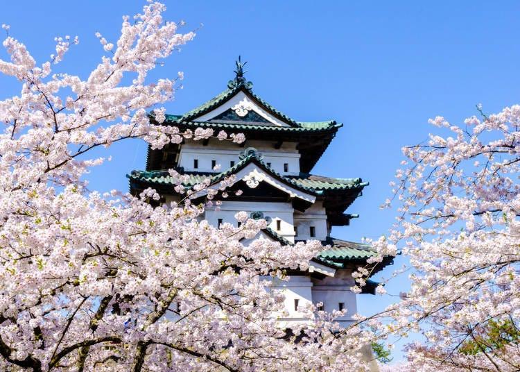 """■벚꽃의 명소 """"히로사키 공원'에 가까운 호텔 3곳"""