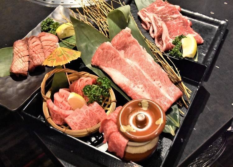 2. A5 Sendai Gyū Yakiniku Sushi Tabehōdai Nikujūhachi Sendai Eki-mae 2-go-ten: All you can eat Sendai Beef!