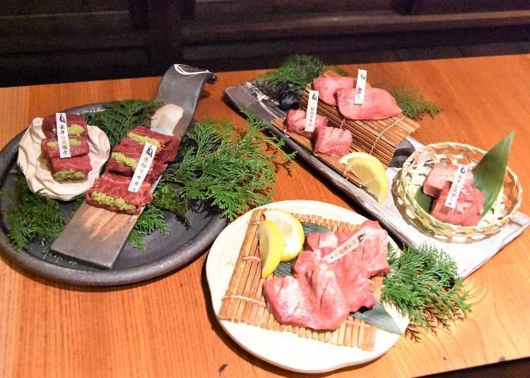 1. 일본식 공간에서 숙성 고기를 맛볼 수 있는 '스미비야키니쿠 규진'