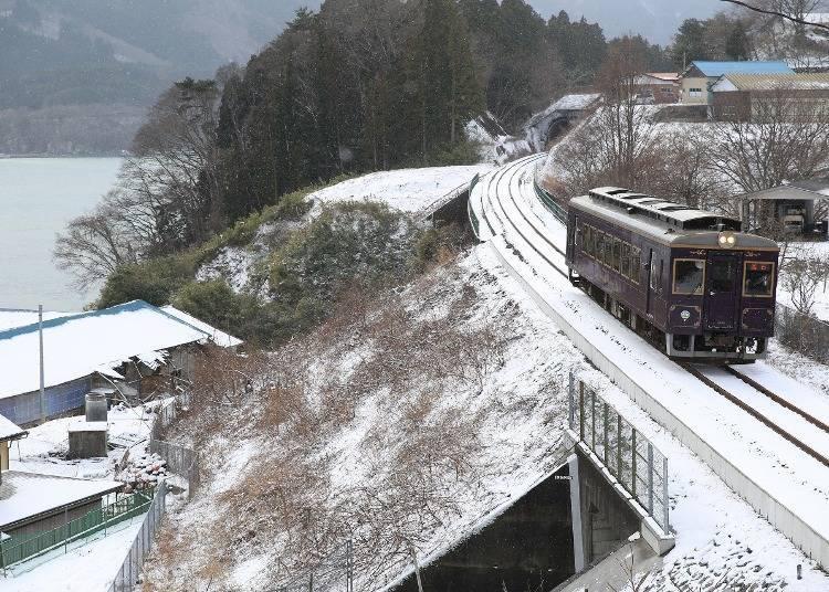 """2. Sanriku Railway's """"Kotatsu Train"""" (Iwate)"""