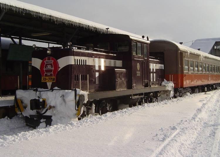 ストーブ列車はどこで乗れる?