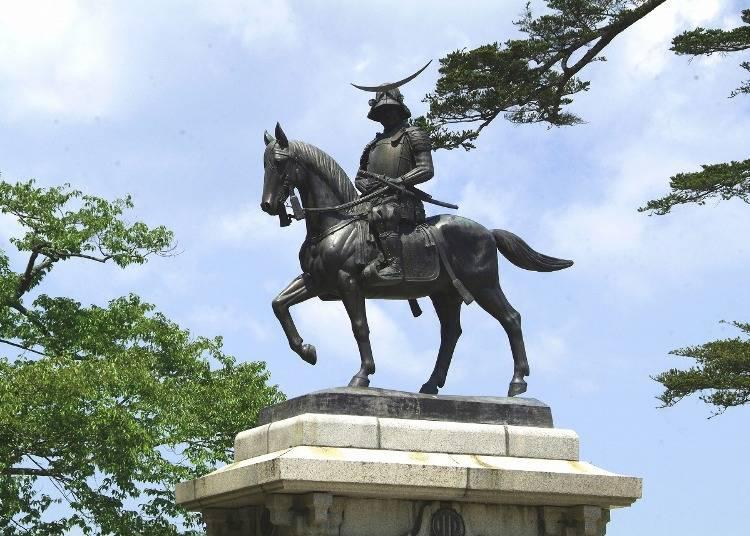 4.「仙台城跡」から仙台の街並みを一望
