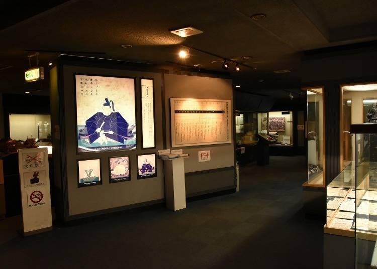 5. '아오바성 자료 전시관'에서 왕년의 성곽을 볼 수 있는 CG 영상과 VR 성지산책체험