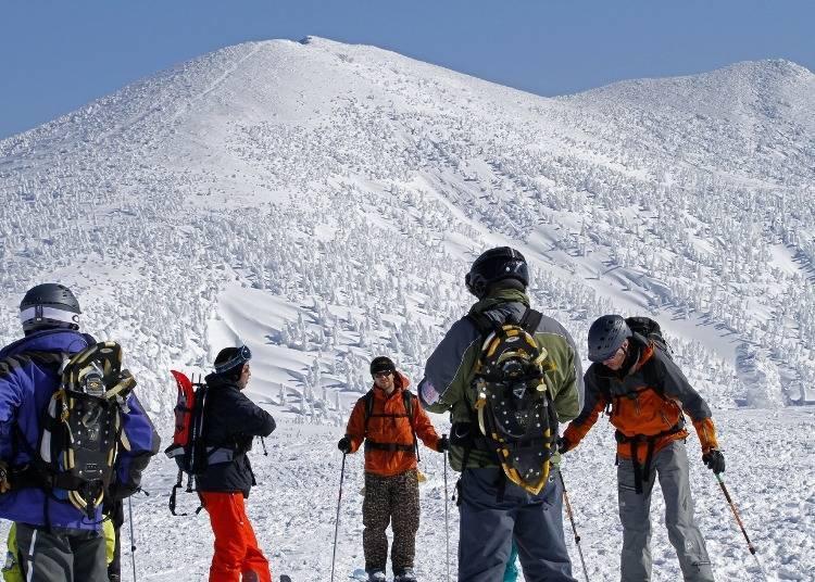 2. 핫코다산에서 스키를 타자