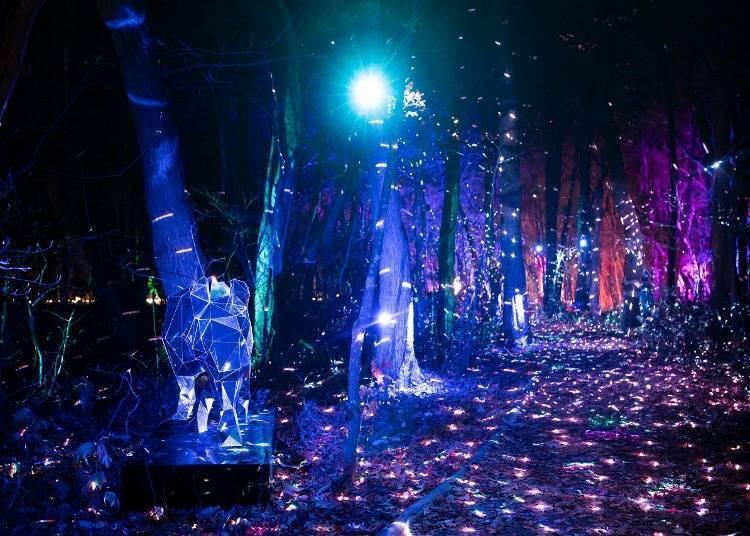 4. 十和田湖 光之冬物語燈飾