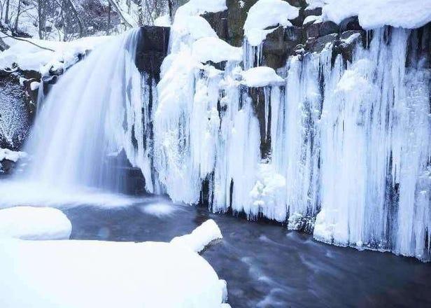 Enjoy Winter at Hoshino Resorts Aomoriya and Oirase Keiryu Hotel:  Gorgeous Ice-falls and Lanterns Decorate Open-air Onsen Baths!