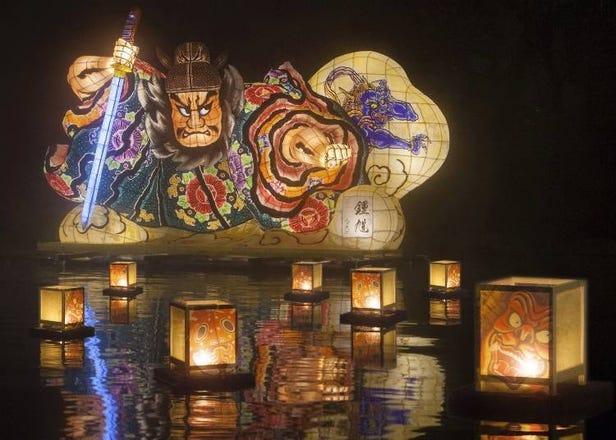 「星野集團 青森屋&奧入溪流飯店」冬季絕景溫泉!冰瀑、燈籠為露天溫泉加分