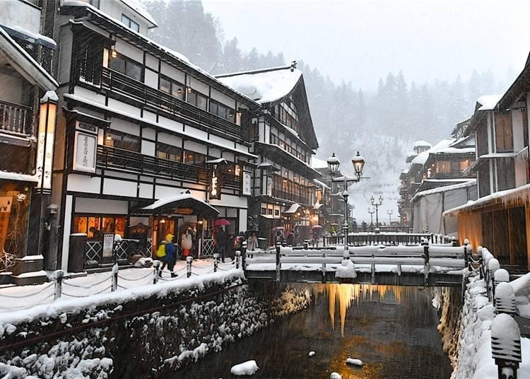 4. Yamagata Ginzan no Yu (Yamagata Prefecture's Ginzan Onsen)