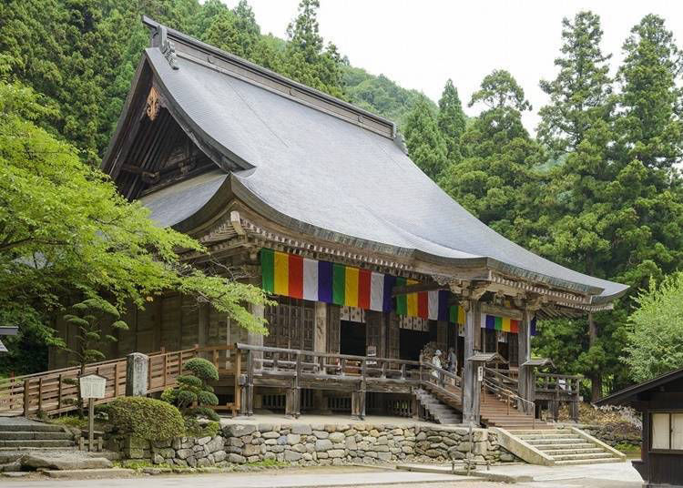 Highlights along the recommended Yamadera walking route