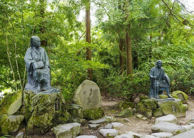 하이세이(俳聖/하이쿠의 명인)의  마츠오 바쇼도 들른 사찰