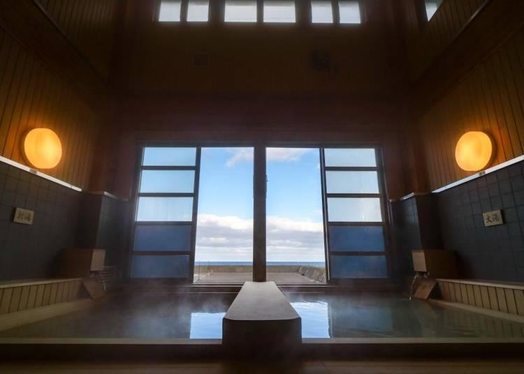 5)下風呂温泉:硫黄泉と熱いお湯がクセになる