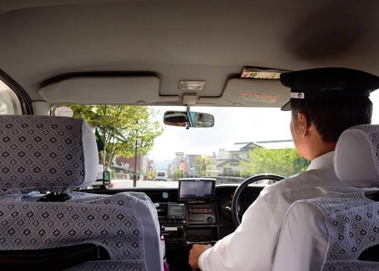 2. Taxi from JR Oishida Station to Ginzan Onsen