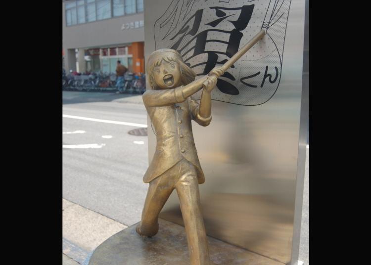 第6名:足球小将翼・中泽早苗铜像