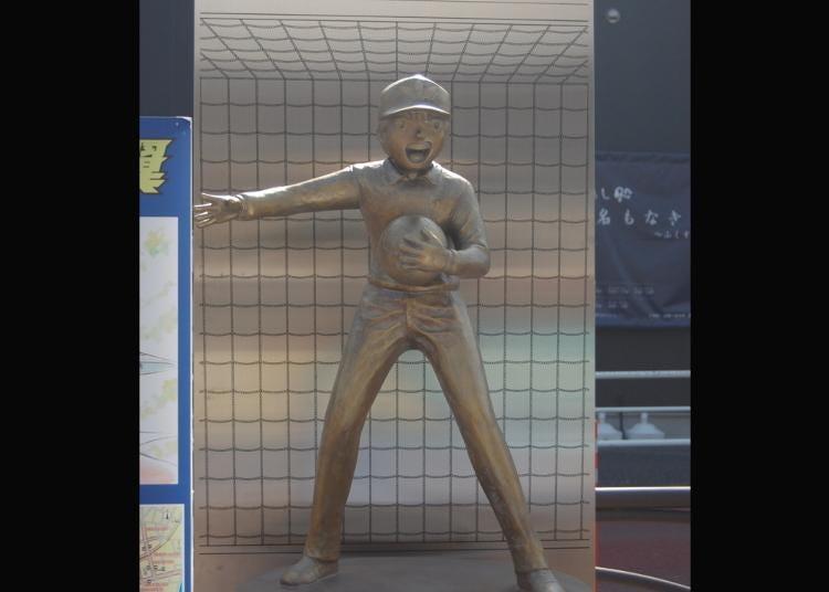 第8名:足球小将翼・若林源三铜像