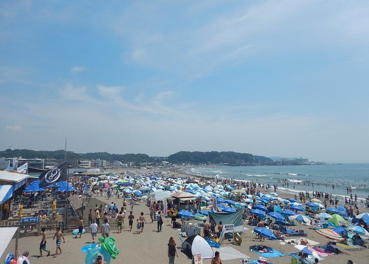 2. Yuigahama Beach