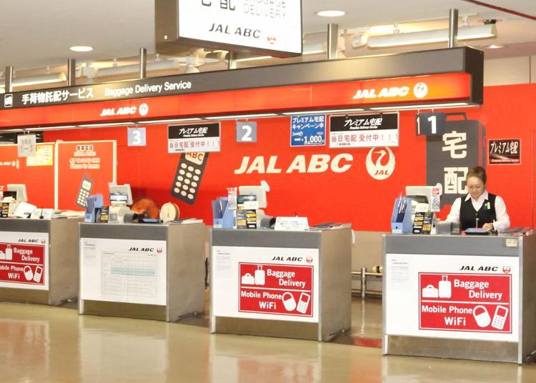 第6名:JAL ABC counter (Baggage Delivery & Storage Service, Rental mobile phones)