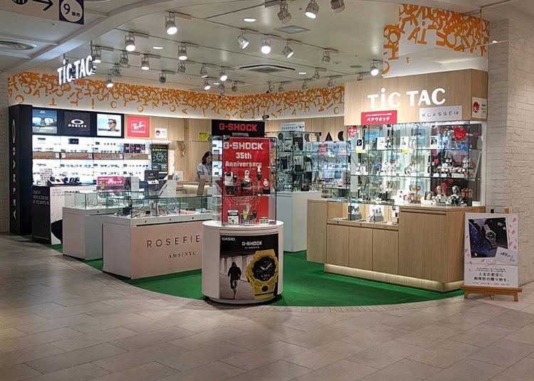 東京買錶人氣第8名:TiCTAC 東京Solamachi店