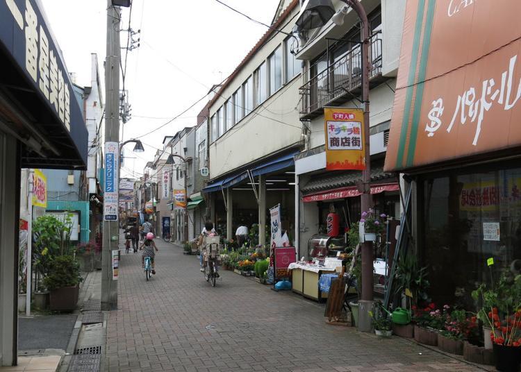 10위. 시타마치 닌조 기라키라 다치바나 상점가
