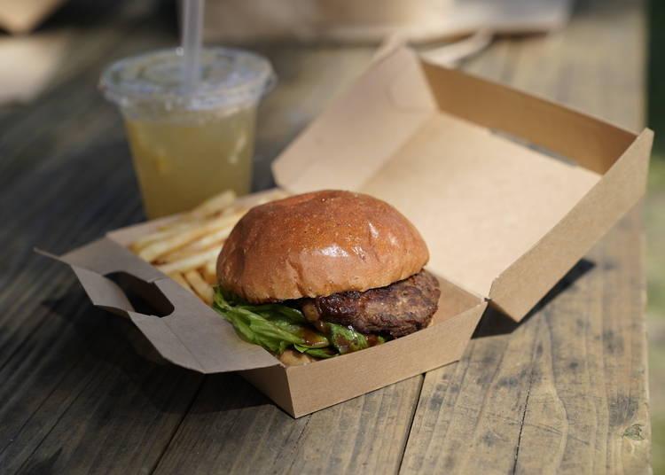 A well-earned burger break