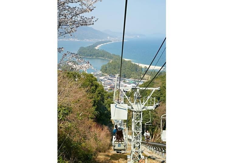 Marvel at unique coastal views in Amanohashidate