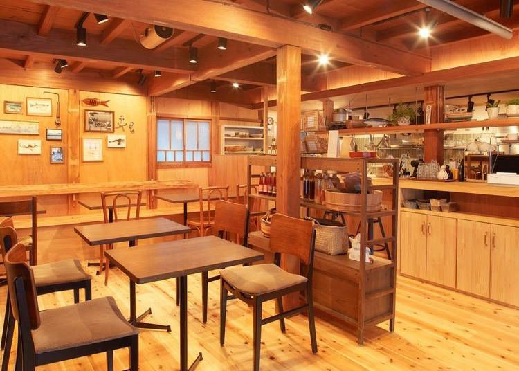 Relax at a hip café/guesthouse in a traditional fishing village
