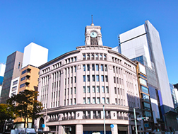 Ginza 4-chome Crossing area