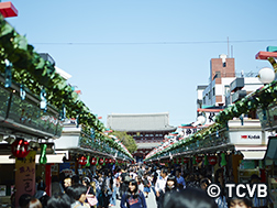 Nakamise-dori to Sensoji Main Temple area