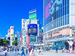 """Sekitar Persimpangan """"Scramble"""" Shibuya"""