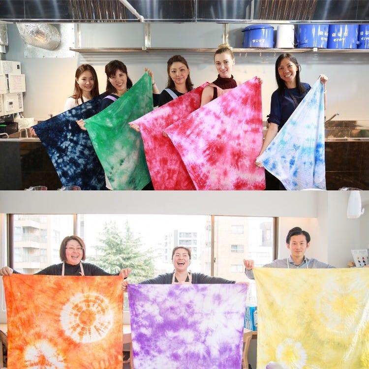Japanese original Shibori-dye (Tie-dye) workshop