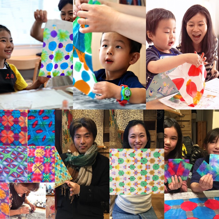 Japanese traditional Washi paper dye workshop