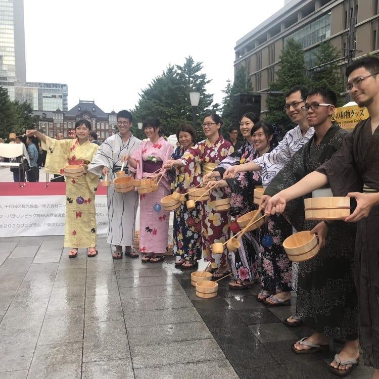 Yukata Experience.Let's enjoy the Bon dance festival  in Tokyo Marunouchi!