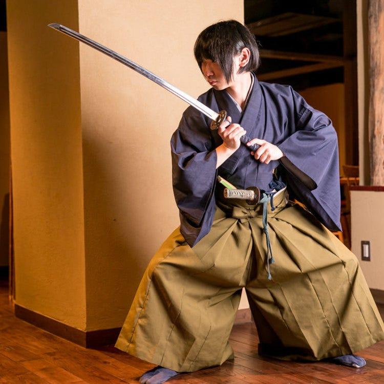 Samurai · female swordsmen's performance, calligrapher's performance