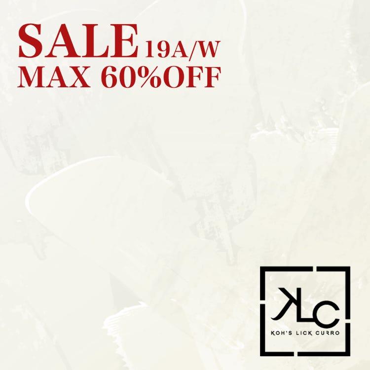 SALE 19A/W MAX 60%OFF