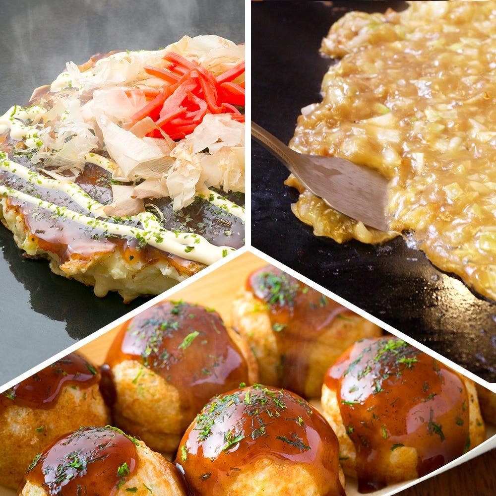 Okonomiyaki, Monja & Takoyaki