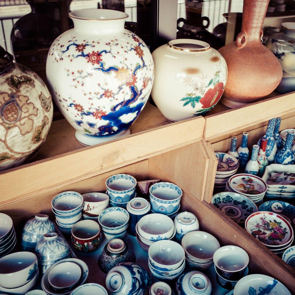 傳統美術、古董店