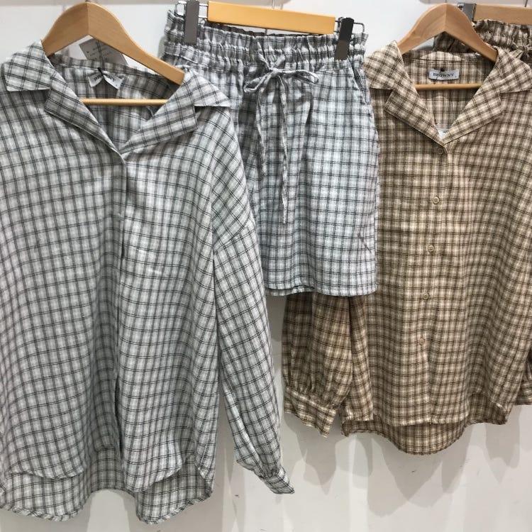 〈 4F WEGO 〉Check shirts / Check bottoms