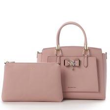 【Samantha Vega Celebrity Mozaiku Street】 Bijou ribbon Handbag