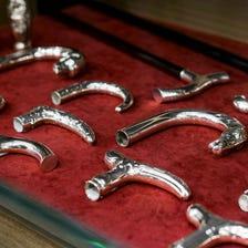 Takagen's original silver walking sticks, made in Japan
