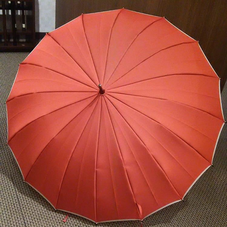 16条伞骨 正反两面素色雨伞 甲州产面料 碳纤维伞骨 遮阳率高达99%以上