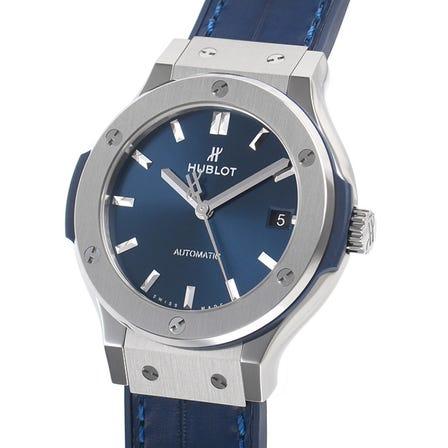 HUBLOT Classic Fusion Blue titanium 565.NX.7170.LR (Price may vary)