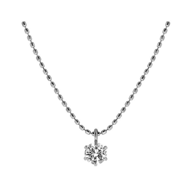 K18WG Diamond Petit Necklace