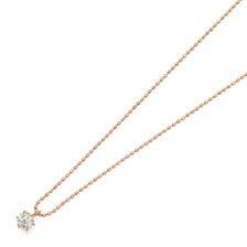 K18PGダイヤモンドプチネックレス