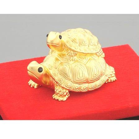 伝統工芸 純金 幸運の亀